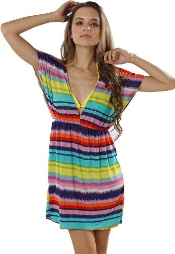 Arc Multicolore ciel Femme Courtes Paréo Manches Ads en waWUqRXwT