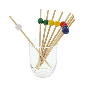 "Royal 4.75"" Assorted Bamboo Ball Picks, Package of 1000"