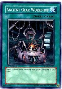 Yu-Gi-Oh! - Ancient Gear Workshop (SD10-EN017) - Structure Deck 10: Machine Re-Volt - 1st Edition - Common