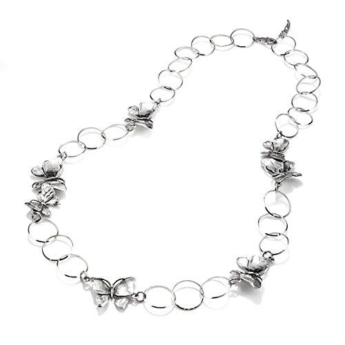 Collana argento Longuette Farfalle Giovanni RASPINI