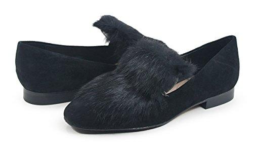 Donald J Pliner Donna Lilian Loafer Flat, Black, 7.5 M Us