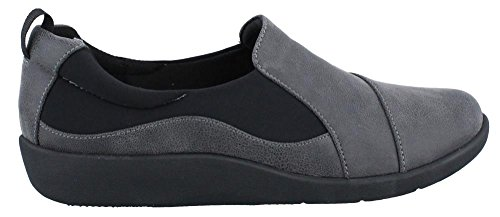 CLARKS Damen CloudSteppers Sillian Paz Slip-On Loafer Grau