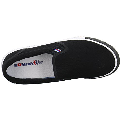 UNISEX 39 ROMIKA u Slipper schilf mode Freizeit mode beige adulte mixte Baskets Noir Laser Baskets 50wrqU0R