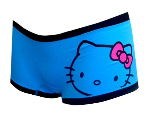 Hello Kitty Turquoise Seamless Boy Short Panty for women (Hello Kitty Boyshort Panty)
