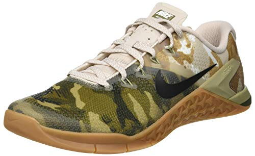 Olive Canvas Footwear - NIKE Men's Metcon 4 Training Shoe Olive Canvas/White-Gum MED Brown 11.0