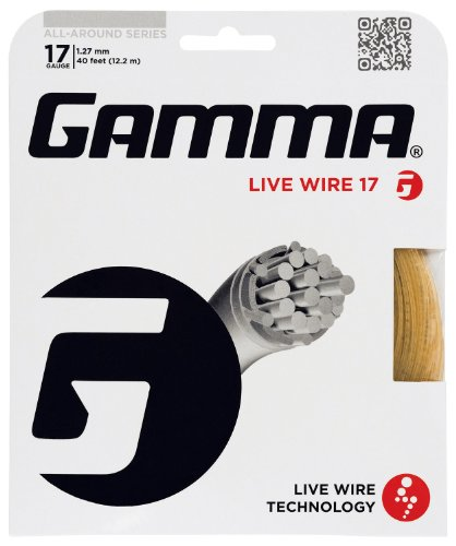 Gamma Live Wire 17G Tennis String, - Power 17g Strings