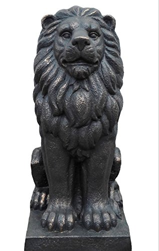 "TIAAN 28"" Lion King Concrete Statues Garden Statue Decor Lion Sculptures Outdoor Indoor Ornament Home Patio Large Figurines by TIAAN (Image #4)"