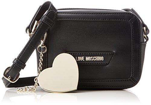 Love Moschino Borsa Calf Pu Nero - Borse Baguette Donna, (Black), 8x13x18 cm (B x H T)