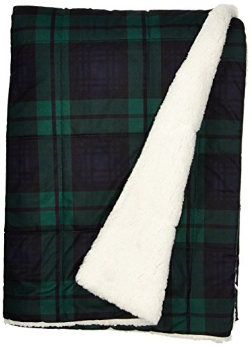 - Woolrich Brewster Luxury Softspun Down Alternative Filled Throw Navy Green 50x70   Plaid Premium Soft Cozy Cozy Spun For Bed, Couch or Sofa