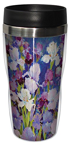 Tree-Free Greetings sg23734 Irresistible Iris by Nel Whatmore Travel Tumbler, 16-Ounce
