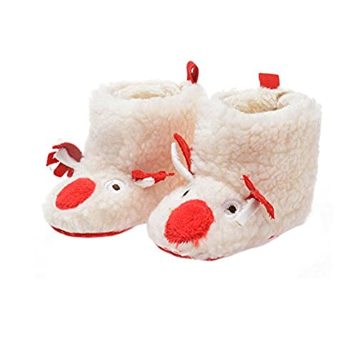 Baby Christmas Boots Shoes Infant Newborn Booties Toddler Nonskid Winter Warm Prewalker Boy Girl