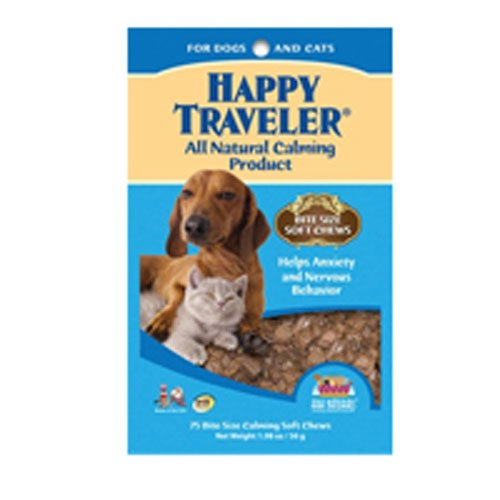 Ark Naturals Happy Traveler Bite Size Soft Chews - 1.98 Oz (Pack of 3) (Ark Naturals Happy Traveler)