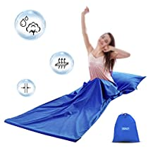 Doact Sleeping Bag Liner Breathable Washed Cotton Travel Sheet - 30 x 85 Camping Clean Sack with Zipper for Traveling Hiking Hotel Usage