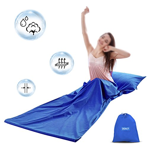 DOACT Sleeping Bag Liner Cotton 100% for Camping, Sleep Bed Sheet Set with...