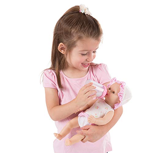 Melissa & Doug Mine to Love Annie 12-Inch Drink & Wet Doll (Pretend Play, Poseable Baby Doll, Charming Clothing & Accessories, Great Gift for Girls and Boys - Best for 3, 4, 5, and 6 Year Olds) from Melissa & Doug