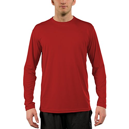 Vapor Apparel Men's UPF 50+ UV Sun Protection Performance Long Sleeve T-Shirt X-Small Mars Red