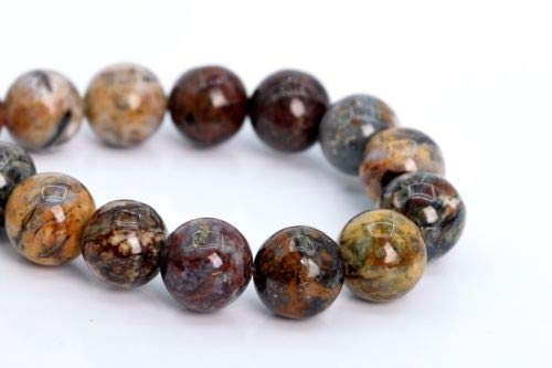 (9-10mm Genuine Natural Pietersite Beads Grade A Round Gemstone Loose Beads 7.5'' Crafting Key Chain Bracelet Necklace Jewelry Accessories Pendants)