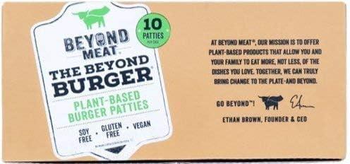Beyond Meat Burger   Hamburguesa 100% Vegetal   Plant Based   Sin Gluten   Sin Soja   Vegano   Pack de 10 Patties (1,14 kg)