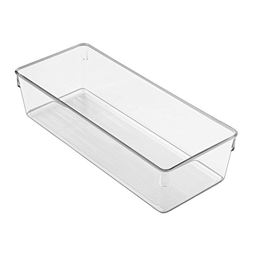 InterDesign Linus Dresser and Vanity Drawer Organizer, 12-inch by 5-inch by 3-inch, Clear