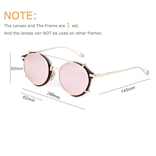 ab3981d14f7 Dollger Clip on Steampunk Sunglasses Flip Up Vintage Round - Import It All