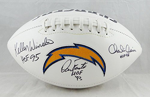 Joiner Autographed San Diego Chargers - Winslow Fouts Joiner Autographed San Diego Chargers Logo Football W/HOF- JSA W Auth