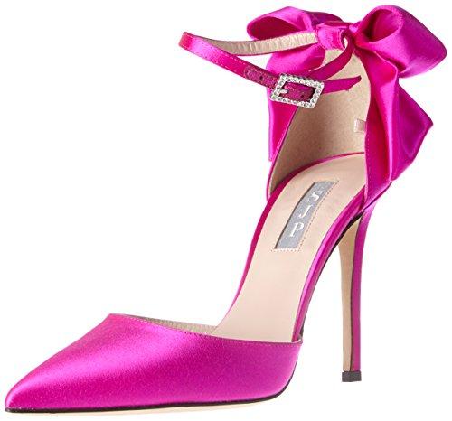 Jessica by Sarah Candy 39 Satin Parker Tacón EU Zapatos SJP de Trance Mujer Rosa para qERwRU