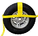 Starrr Products 13'-35' Tow Dolly, Adjustable Straps w/Flat Hooks (Set of 2)