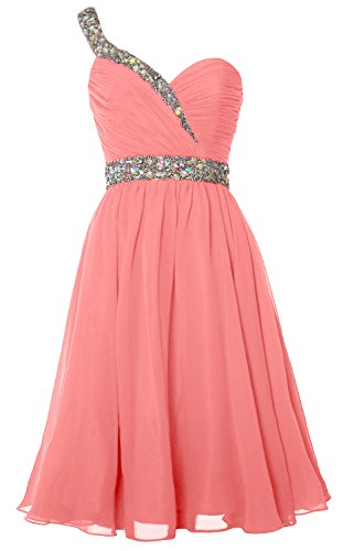 Dress Homecoming Prom Shoulder Gorgeous Short Party Gown Zartrosa Formal One MACloth XqZYwAf