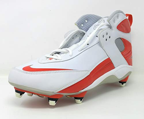Nike Air Zoom Blade Pro D Football Cleat Shoes 315776-181 White/Orange Flash (13.5)