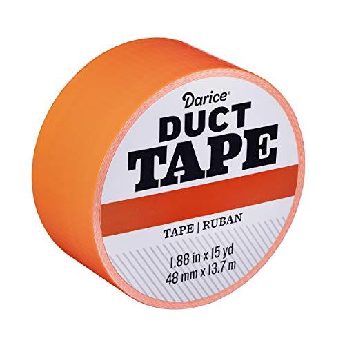 Darice 30079648 Roll: Blaze Orange, 1.88 Inches x 15 Yards Duct Tape,
