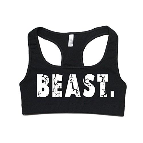 FTD Apparel Women's Beast Active Sports Bra - Medium Black