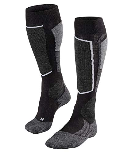 Falke Men's SK2 Ski Sock-Medium Padding-Thermal Insulation, Black/mix, 42-43 (US Size 9-10)