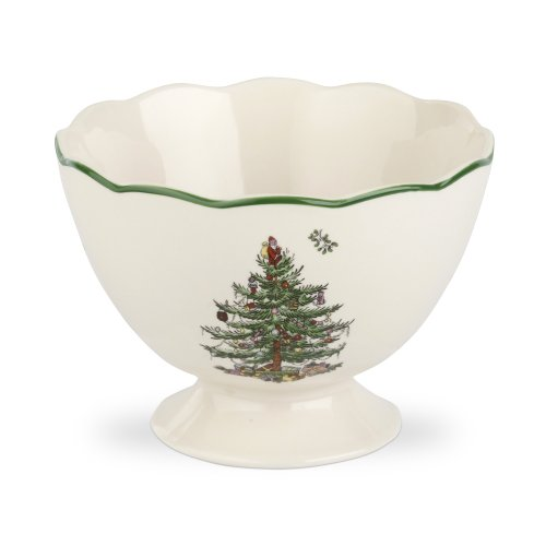Spode Christmas Tree Sculpted Footed Bowl, 4.8-Inch
