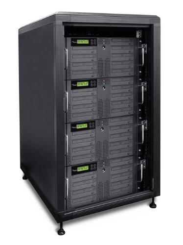 Produplicator 36DVDRM750GB 36 Burner Daisy Chain DVD CD Rackmount Duplicator Plus 750GB HDD Plus Cabinet by Produplicator