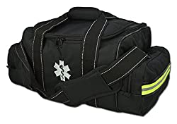 Lightning X Large Emt Medic First Responder Ems Tactical Trauma Bag W Dividers (Stealth Black)
