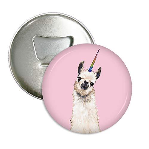 (Pink Llama Unicorn Refrigerator Magnets Beer Bottle Opener Coke Bottle Wine Soda Openers Kitchen Magnet for Home Decor Pocket Size)