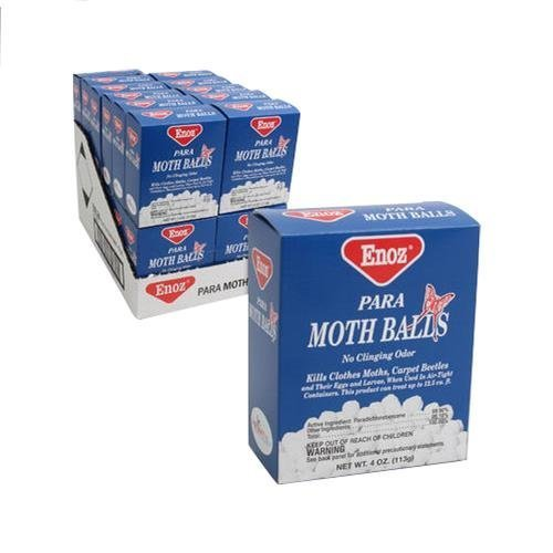 (Enoz Original Moth Balls, 4 oz Each, 4 Pack by Enoz)