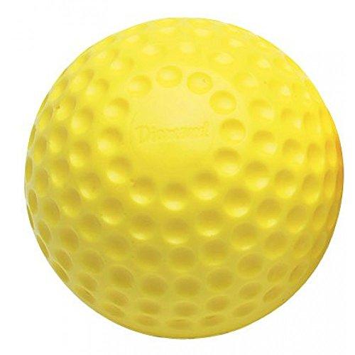Diamond New DPM-9 Pitching Machine Balls 9'' 1 Dozen (12) Yellow Baseballs by Diamond