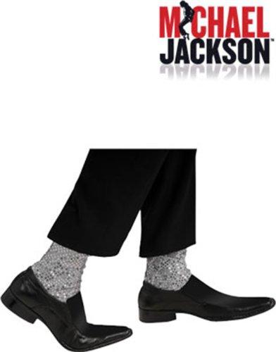 [Rubies Michael Jackson Costume Accessory Sparkle Socks] (Michael Jackson Billie Jean Costumes)
