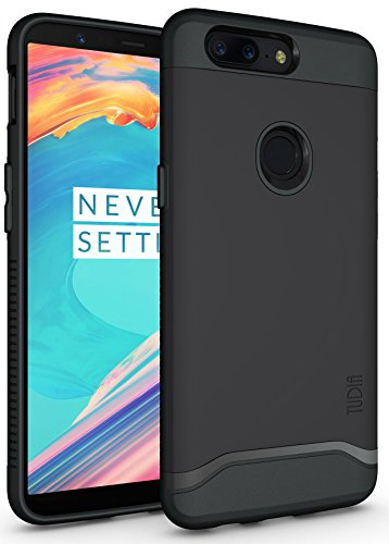 OnePlus 5T Case, TUDIA Slim-Fit Heavy Duty [Merge] Extreme Protection/Rugged but Slim Dual Layer Case for OnePlus 5T (2017 Version) (Matte Black)