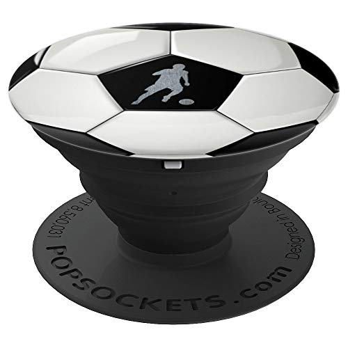 Soccer ball with soccer player phone stand - PopSockets Grip and Stand for Phones and Tablets