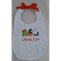 Personalized Halloween bib for baby girl