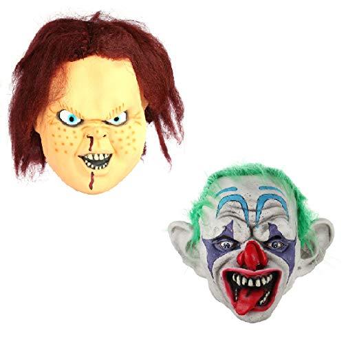 2pcs/set Funny Latex Mascara De Chucky Mask Ghost