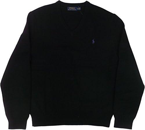 (ポロ ラルフローレン) ラムズウールセーター Vネック ブラック Polo Ralph Lauren 779 [並行輸入品]