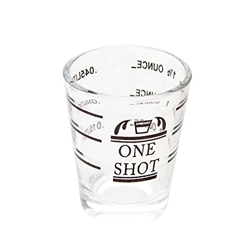1 PCS Kitchen Accessories Glass Measuring Cup for Espresso Cocktail 1.5oz Glassful Coffee cup BS
