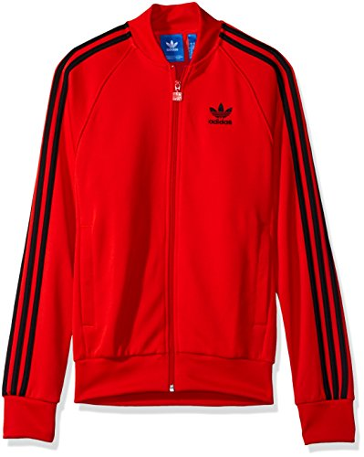 Core Track Jacket (adidas Originals Men's Outerwear Superstar Track Jacket, Core Red, Small)