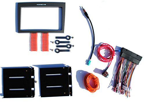 Installation Dash Kit Fits 2005-2008 Porsche Select 997/987 Models w/ Factory Bose Aftermarket Double Din Radio Stereo
