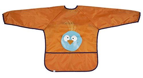 (Lassig Art Smock Wildlife Bib Cloth, Birdie/Orange)