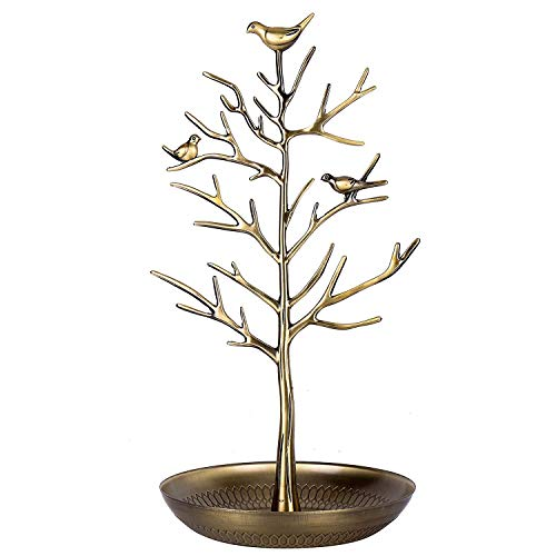 isplay/Stand - Antique Birds Tree/Earring Necklace Bracelets Jewelry Storage Holders/Hanging/Organiser/Rack/Tower Antique Antique Yellow Bronze ()