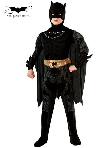 Batman Dark Knight Rises Deluxe Light-Up Batman Child Costume (Medium) by Rubie's (Batman Black Knight Rises)
